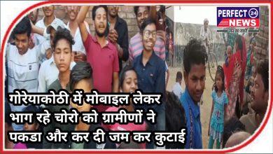 Photo of मोबाइल छीनकर भाग रहे बदमाशों को ग्रामीणों ने पकड़ा, जमकर की कुटाई