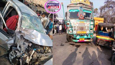 Photo of समस्तीपुर: रोसरा डाक बंगला चौराहा पर अभी-अभी अल्टो और ट्रक में टक्कर