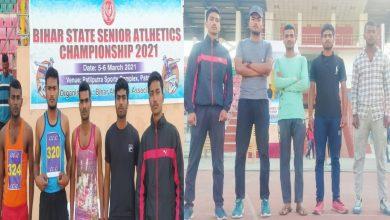 Photo of बिहार सीनियर एथलेटिक्स चैंपियनशिप 2021 में गोपालगंज जिले के पांच खिलाड़ी होंगे शामिल