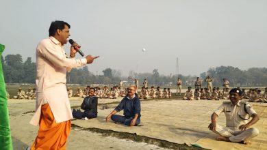 Photo of सिवान के इंडियन लॉफिंग बुद्धा के साथ एसपी साहब नें जमकर लगाए ठहाके